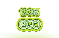 design 100% för typografi för symbol för logo för ecoordtext Royaltyfria Bilder