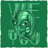Design för ufot-skjorta etikett Royaltyfri Fotografi