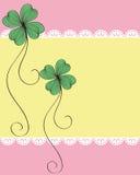 Design för växt av släkten Trifoliumkortmodell Fotografering för Bildbyråer
