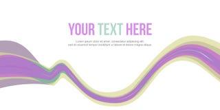 Design för våg för bakgrund för titelradwebsiteabstrakt begrepp Royaltyfri Foto