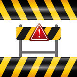 Design för varningstecken Fotografering för Bildbyråer