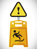 Design för varningstecken Royaltyfria Foton