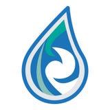 Design för vattenlogosymbol Arkivfoto