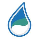 Design för vattenlogosymbol Arkivbild