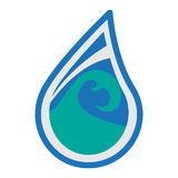 Design för vattenlogosymbol Fotografering för Bildbyråer