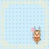 Design för vektor eps10 för glad jul i blått och vit Royaltyfri Foto