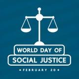 Design för vektor för dag för social rättvisa för värld Royaltyfria Bilder