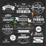 Design för vektor för emblem för typografisommarferie Royaltyfria Foton