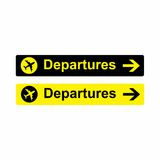 Design för vektor för flygplatsavvikelsetecken Royaltyfri Bild