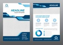 Design för vektor för signal för blått för sida för räkning för format A4 för orienteringsreklambladmall royaltyfri illustrationer