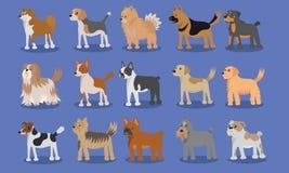Design för vektor för hundtecknad film gullig stock illustrationer