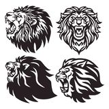 Design för vektor för Lion Head Logo Set Collection packe högvärdig vektor illustrationer