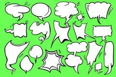 Design för vektor för tom anförandebubblasymbol grafisk med grön bakgrund stock illustrationer