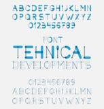 Design för vektoralfabetbokstäver Fotografering för Bildbyråer