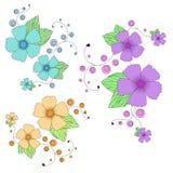 Design för vektorblommabakgrund Royaltyfri Fotografi