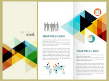 Design för vektorbroschyrorientering Arkivbilder