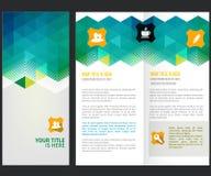 Design för vektorbroschyrorientering Royaltyfri Foto