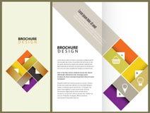 Design för vektorbroschyrorientering Arkivfoton