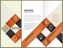 Design för vektorbroschyrorientering Arkivbild