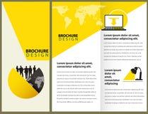 Design för vektorbroschyrorientering Arkivfoto