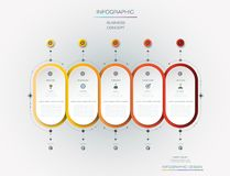 Design för vektorInfographic etikett med symboler och 5 alternativ eller moment vektor illustrationer