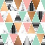 Design för vektormarmortextur med geometriska former, svartvit marmorera yttersida, modern lyxig bakgrund royaltyfri illustrationer