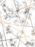 Design för vektormarmortextur med guld- geometriska linjer, svartvit marmorera yttersida, modern lyxig bakgrund stock illustrationer