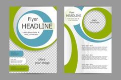 Design för vektorreklambladmall Fotografering för Bildbyråer