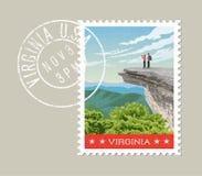 Design för Virginia portostämpel också vektor för coreldrawillustration