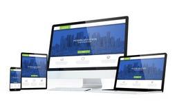 design för vit skärm för rörlighetsapparater modern svars- arkivfoto