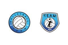 Design för volleybolllaglogo royaltyfri illustrationer