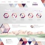 Design för Websitemanöverenhetsmall vektor Royaltyfri Foto