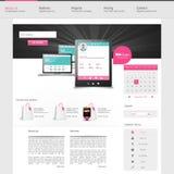 Design för Websitemanöverenhetsmall vektor Arkivbild