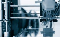 design för yelement för mekanism för skrivare 3d funktionsduglig av apparaten under processarna Arkivfoto