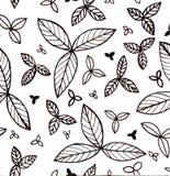 Design für Blumendruck mit Blättern Lizenzfreie Stockfotografie