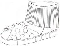 Design für Sandale mit Fransen ss2015 Lizenzfreie Stockfotos