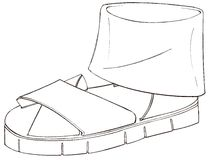 Design für Sandale ohrfeigte ss2015 Stockbild