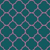 Design f?r Quatrefoil s?ml?s repetitionmodell royaltyfri illustrationer