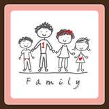 Design. Family  grafic  design , vector illustration Royalty Free Stock Photos