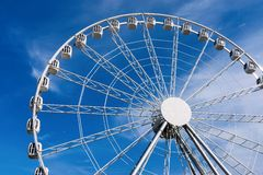 Design ferris wheel or an attraction for a review Stock Photo
