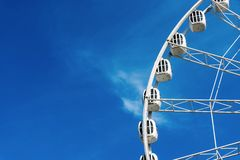Design ferris wheel or an attraction for a review Stock Image