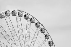 Design ferris wheel or an attraction for a review Royalty Free Stock Images
