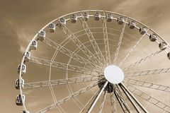 Design ferris wheel or an attraction for a review Royalty Free Stock Image