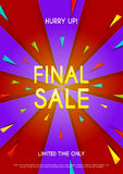 Design of the final sale flyer. It is an abstract vector illustration for advertising sale Stock Photo