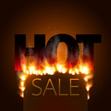 Design with Fire. Hot Sale. Sale Design with Fire. Hot Sale. Vector illustration Stock Photos