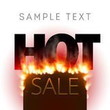 Design with Fire. Hot Sale. Sale Design with Fire. Hot Sale. Vector illustration Royalty Free Stock Photography