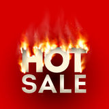 Design with Fire. Hot Sale. Sale Design with Fire. Hot Sale. Vector illustration Stock Photography