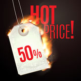 Design with Fire. Hot Sale. Sale Design with Fire. Hot Sale. Vector illustration Stock Image