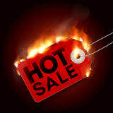 Design with Fire. Hot Sale. Sale Design with Fire. Hot Sale. Vector illustration Royalty Free Stock Photo