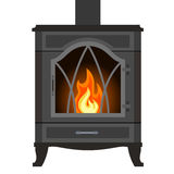 Design of the fireplace. Vector furnace or stove. Stock Images